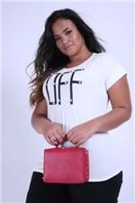 T-shirt com Pérola Plus Size Off White PP