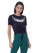 T-Shirt de Malha com Amarração