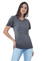 T-Shirt de Viscose Tingida com Aplicações