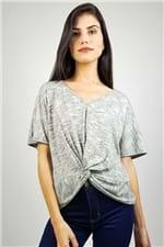 T-shirt Decote V Essential Maria Valentina - P