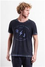 T-shirt Double R Raio J Azul Denim G
