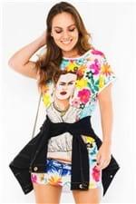 T-shirt Dress Estampa Frida Kahlo VE2094 - Kam Bess