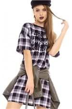 T-shirt Dress Estampado com Lettering BL4361 - Kam Bess