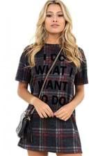 T-shirt Dress Xadrez - BL4131 - Kam Bess