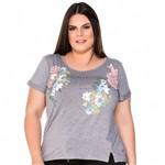 T-Shirt Edition Limitee com Guippir Plus Size M