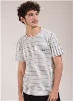 T-shirt Especial Fio Tinto Botone Branco G