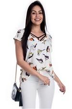 T-shirt Estampa com Decote V BL3363 - G