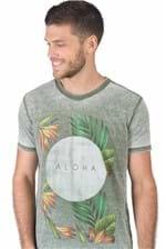 T-Shirt Estampada Aloha Verde VERDE/P