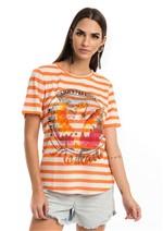 T-shirt Estampada Summer Paradise - Laranja P