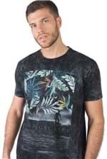 T-Shirt Estampada Tropical Life Preto PRETO/P