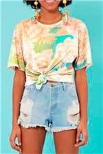 T-shirt Farm Maxi Chita Lumi - Multicolorido