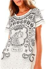 T-shirt Farm Nação Borogodo - Preto e Branco