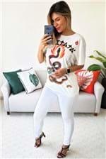 T-shirt Farm Silk Boitata - Off White