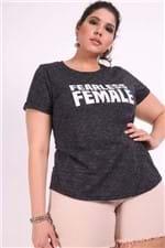 T-shirt Female Plus Size Preto P