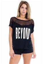 T-shirt Feminina Beyond com Renda BL1923 - Kam Bess