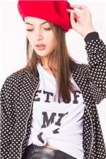 T-shirt Feminina com Lettering BL3733 - Kam Bess