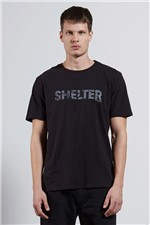 T-shirt Flame Shelter Type Preto P