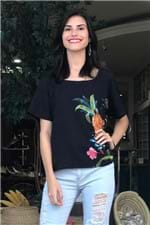 T-shirt Floral Veludo Farm - P