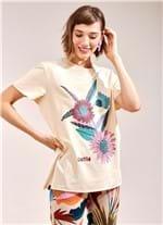 T-Shirt Flores BEGE CLARO G