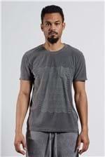 T-shirt Graphic Lines Bolso Preto P
