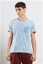T-shirt Indigo Stripes Navy Azul Claro P