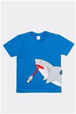 T-shirt Infantil Manga Curta Peixe 2 a 7 Anos - Bb Básico 6G - AZUL ROYAL