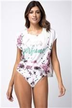T-shirt Lança Perfume Descolada com Recortes