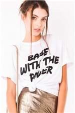 T-shirt Lettering com Ombreira BL3806 - Kam Bess