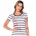 T-Shirt Listrada Alongada G