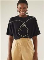 T-shirt Local Faces Preto M