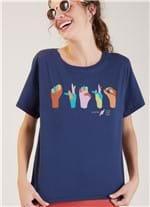 T-shirt Local Libras Azul Escuro G