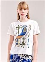 T-Shirt Local Sol e Lua BRANCO G