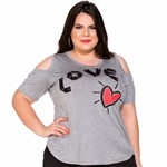 T-Shirt Love com Taxas Plus Size M