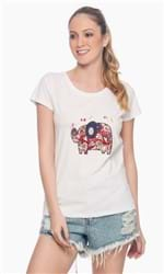 T-Shirt Malha Estampa Elefante G - OFF