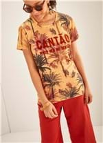 T-shirt Manga Curta Estampada Palm AMARELO G