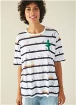 T-shirt Manga Curta Estampada Trens AZUL MARINHO GG
