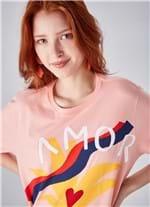 T-shirt Manga Curta Silk Amor ROSA G
