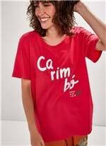 T-shirt Manga Curta Silk Carimbo ROSA G
