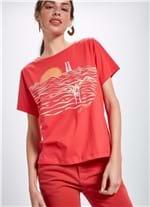 T-shirt Manga Curta Silk Mergulho ROSA P