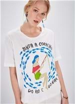 T-shirt Manga Curta Silk Pescadora BRANCO G