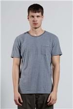 T-shirt Medium Stripe Pocket Cinza G