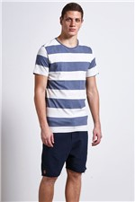 T-shirt Melange Stripes Azul Gg