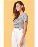T-shirt Mescla Estampa Bonita