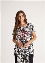 T Shirt Originals Est Trama Floral Branco/preto P