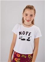T Shirt Panda Nope Branco G