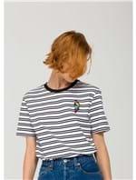 T-Shirt Parrot Badge Preta e Branca Tamanho M