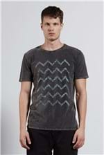 T-shirt Peaks Marmorizada Preto G