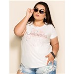 T-Shirt Plus Size Flamingos P