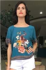 T-shirt Raglan Floral Pequim Farm - P