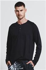 T-shirt Raglan Simple Preto G